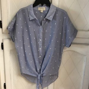 Cloth and Stone Clip Dot Top